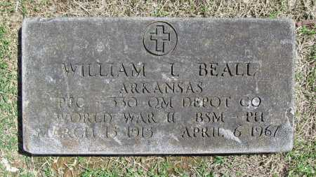 BEALL (VETERAN WWII), WILLIAM L - Benton County, Arkansas | WILLIAM L BEALL (VETERAN WWII) - Arkansas Gravestone Photos