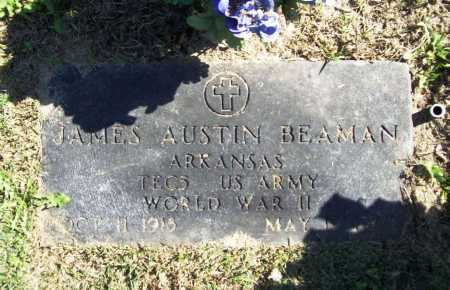 BEAMAN (VETERAN WWII), JAMES AUSTIN - Benton County, Arkansas | JAMES AUSTIN BEAMAN (VETERAN WWII) - Arkansas Gravestone Photos