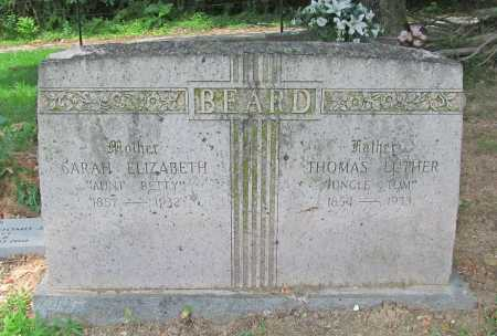 "BEARD, SARAH ELIZABETH ""AUNT BETTY"" - Benton County, Arkansas 