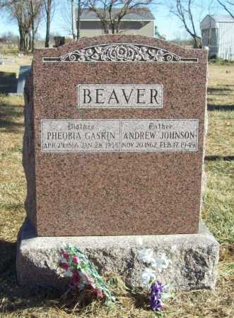 BEAVER, ANDREW JOHNSON - Benton County, Arkansas | ANDREW JOHNSON BEAVER - Arkansas Gravestone Photos