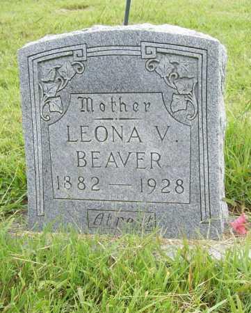 BEAVER, LEONA V. - Benton County, Arkansas | LEONA V. BEAVER - Arkansas Gravestone Photos