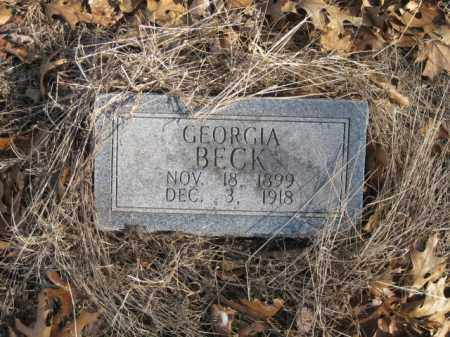 BECK, GEORGIA - Benton County, Arkansas | GEORGIA BECK - Arkansas Gravestone Photos