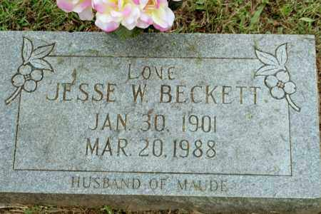 BECKETT, JESSE W - Benton County, Arkansas | JESSE W BECKETT - Arkansas Gravestone Photos