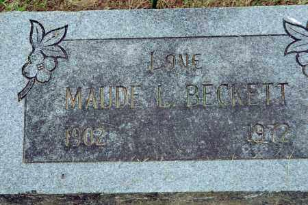 BECKETT, MAUDE L. - Benton County, Arkansas | MAUDE L. BECKETT - Arkansas Gravestone Photos