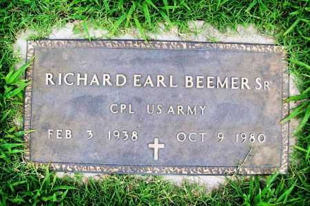 BEEMER (VETERAN), RICHARD EARL SR - Benton County, Arkansas | RICHARD EARL SR BEEMER (VETERAN) - Arkansas Gravestone Photos