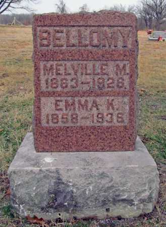 BELLOMY, MELVILLE M. - Benton County, Arkansas | MELVILLE M. BELLOMY - Arkansas Gravestone Photos
