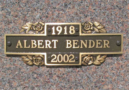 BENDER (VETERAN WWII), ALBERT - Benton County, Arkansas | ALBERT BENDER (VETERAN WWII) - Arkansas Gravestone Photos