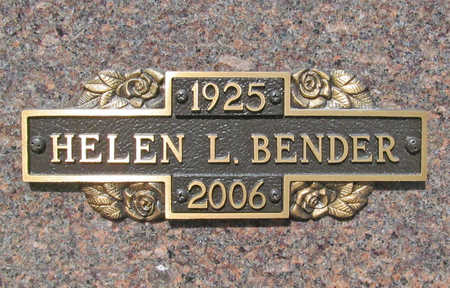 BENDER, HELEN LOUISE - Benton County, Arkansas | HELEN LOUISE BENDER - Arkansas Gravestone Photos