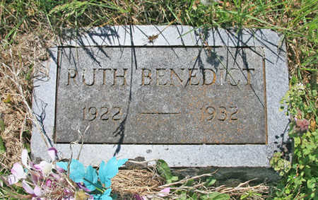 BENEDICT, RUTH - Benton County, Arkansas | RUTH BENEDICT - Arkansas Gravestone Photos