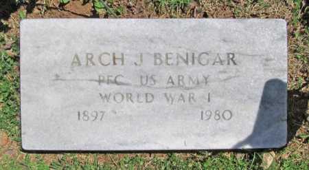 BENIGAR (VETERAN WWI), ARCH J - Benton County, Arkansas | ARCH J BENIGAR (VETERAN WWI) - Arkansas Gravestone Photos