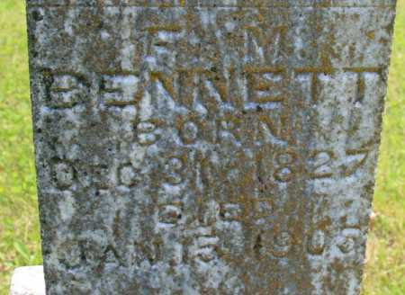 BENNETT, F M (CLOSEUP) - Benton County, Arkansas   F M (CLOSEUP) BENNETT - Arkansas Gravestone Photos