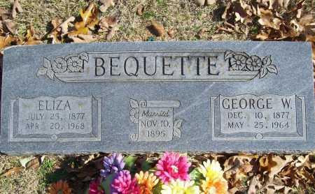 BEQUETTE, ELIZA - Benton County, Arkansas | ELIZA BEQUETTE - Arkansas Gravestone Photos