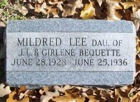 BEQUETTE, MILDRED LEE - Benton County, Arkansas | MILDRED LEE BEQUETTE - Arkansas Gravestone Photos