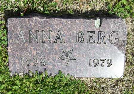 BERG, ANNA - Benton County, Arkansas | ANNA BERG - Arkansas Gravestone Photos