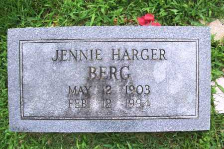 BERG, JENNIE - Benton County, Arkansas | JENNIE BERG - Arkansas Gravestone Photos