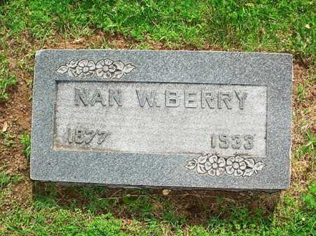 BERRY, NAN W. - Benton County, Arkansas | NAN W. BERRY - Arkansas Gravestone Photos
