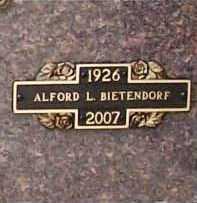 BIETENDORF (VETERAN WWII), ALFORD LEO - Benton County, Arkansas | ALFORD LEO BIETENDORF (VETERAN WWII) - Arkansas Gravestone Photos