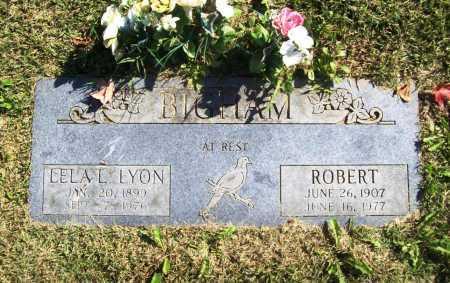 LYON BIGHAM, LELA LEOLA - Benton County, Arkansas | LELA LEOLA LYON BIGHAM - Arkansas Gravestone Photos