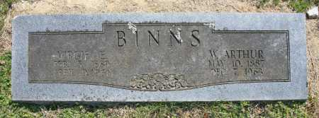 BINNS, VIRGIE E. - Benton County, Arkansas | VIRGIE E. BINNS - Arkansas Gravestone Photos