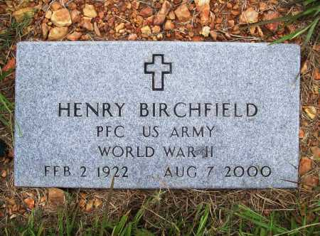BIRCHFIELD (VETERAN WWII), HENRY - Benton County, Arkansas | HENRY BIRCHFIELD (VETERAN WWII) - Arkansas Gravestone Photos