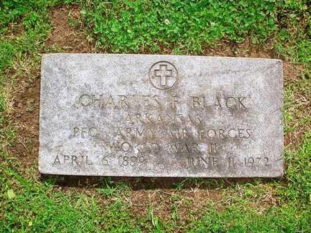 BLACK (VETERAN WWII), CHARLES F. - Benton County, Arkansas | CHARLES F. BLACK (VETERAN WWII) - Arkansas Gravestone Photos