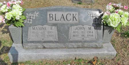 BLACK, MAXINE E - Benton County, Arkansas | MAXINE E BLACK - Arkansas Gravestone Photos