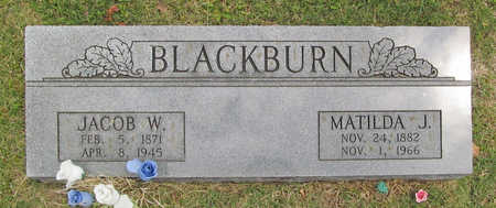 BLACKBURN, JACOB W. - Benton County, Arkansas | JACOB W. BLACKBURN - Arkansas Gravestone Photos