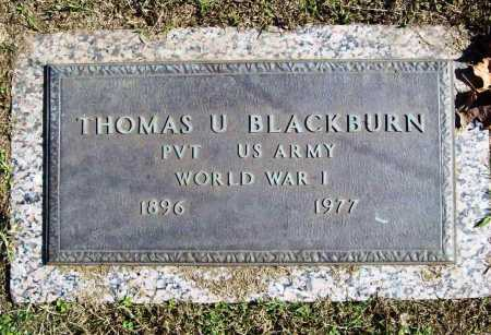 BLACKBURN (VETERAN WWI), THOMAS U - Benton County, Arkansas | THOMAS U BLACKBURN (VETERAN WWI) - Arkansas Gravestone Photos