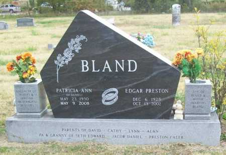 BLAND, EDGAR PRESTON - Benton County, Arkansas | EDGAR PRESTON BLAND - Arkansas Gravestone Photos