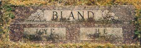 BLAND, LOY F. - Benton County, Arkansas | LOY F. BLAND - Arkansas Gravestone Photos