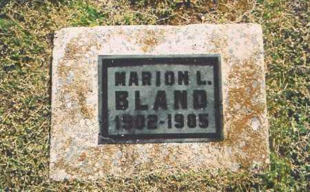 BLAND, MARION L. - Benton County, Arkansas | MARION L. BLAND - Arkansas Gravestone Photos