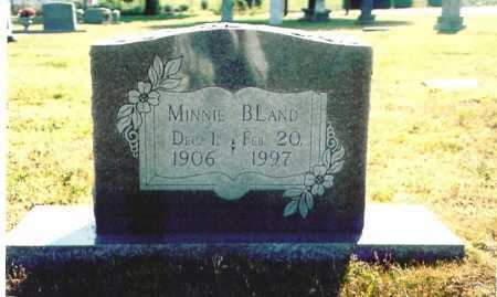 BLAND, MINNIE - Benton County, Arkansas | MINNIE BLAND - Arkansas Gravestone Photos