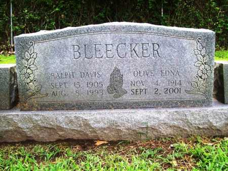 BLEEKER, OLIVE EDNA - Benton County, Arkansas | OLIVE EDNA BLEEKER - Arkansas Gravestone Photos