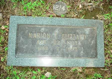BLIZZARD, MARION L. - Benton County, Arkansas | MARION L. BLIZZARD - Arkansas Gravestone Photos