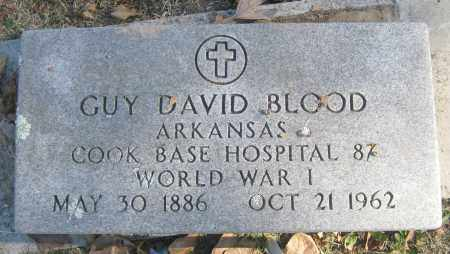 BLOOD (VETERAN WWI), GUY DAVID - Benton County, Arkansas | GUY DAVID BLOOD (VETERAN WWI) - Arkansas Gravestone Photos