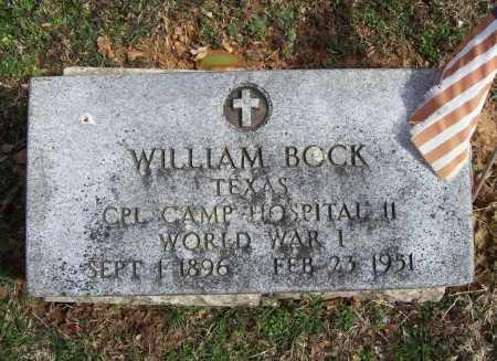 BOCK (VETERAN WWI), WILLIAM - Benton County, Arkansas | WILLIAM BOCK (VETERAN WWI) - Arkansas Gravestone Photos