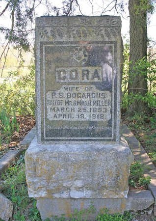 MILLER BOGARDUS, CORA - Benton County, Arkansas | CORA MILLER BOGARDUS - Arkansas Gravestone Photos