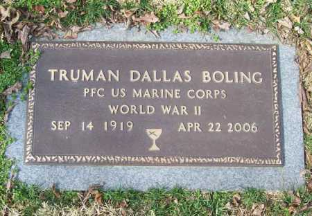 BOLING (VETERAN WWII), TRUMAN DALLAS - Benton County, Arkansas | TRUMAN DALLAS BOLING (VETERAN WWII) - Arkansas Gravestone Photos