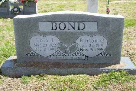 BOND, LOLA I. - Benton County, Arkansas | LOLA I. BOND - Arkansas Gravestone Photos