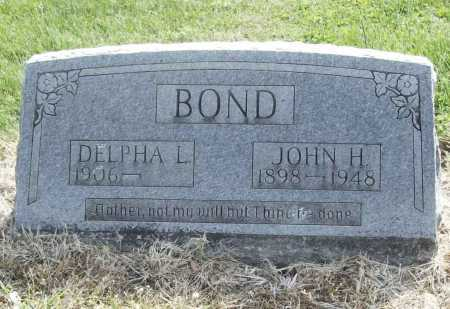 BOND, JOHN H. - Benton County, Arkansas | JOHN H. BOND - Arkansas Gravestone Photos