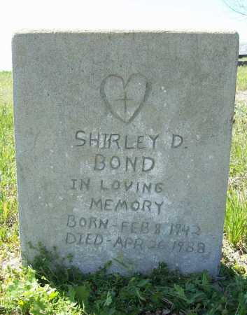 BOND, SHIRLEY D. - Benton County, Arkansas | SHIRLEY D. BOND - Arkansas Gravestone Photos