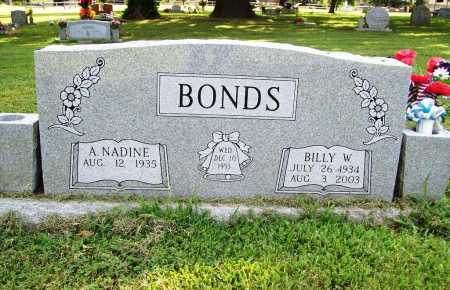 BONDS, BILLY W. - Benton County, Arkansas | BILLY W. BONDS - Arkansas Gravestone Photos