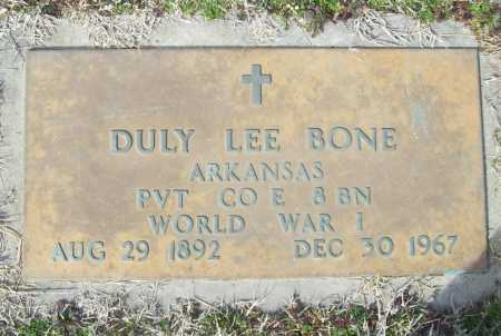 BONE (VETERAN WWI), DULY LEE - Benton County, Arkansas | DULY LEE BONE (VETERAN WWI) - Arkansas Gravestone Photos