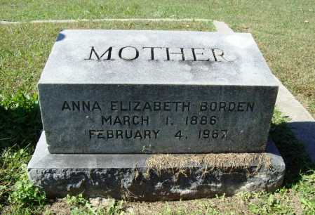 BORDEN, ANNA ELIZABETH - Benton County, Arkansas | ANNA ELIZABETH BORDEN - Arkansas Gravestone Photos