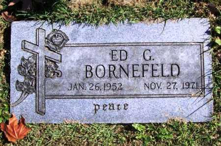BORNEFELD, ED G. - Benton County, Arkansas | ED G. BORNEFELD - Arkansas Gravestone Photos