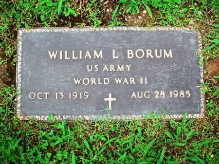 BORUM (VETERAN WWII), WILLIAM L. - Benton County, Arkansas | WILLIAM L. BORUM (VETERAN WWII) - Arkansas Gravestone Photos