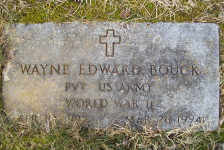 BOUCK (VETERAN WWII), WAYNE EDWARD - Benton County, Arkansas | WAYNE EDWARD BOUCK (VETERAN WWII) - Arkansas Gravestone Photos