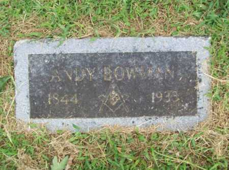 BOWMAN, ANDY - Benton County, Arkansas | ANDY BOWMAN - Arkansas Gravestone Photos