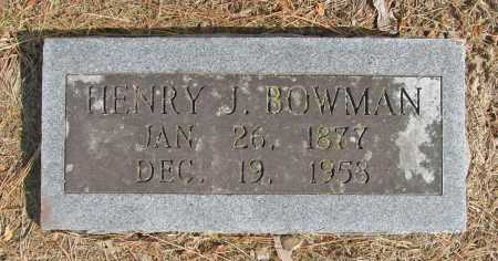 BOWMAN, HENRY J. - Benton County, Arkansas | HENRY J. BOWMAN - Arkansas Gravestone Photos