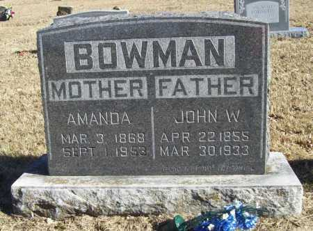 BOWMAN, AMANDA - Benton County, Arkansas | AMANDA BOWMAN - Arkansas Gravestone Photos